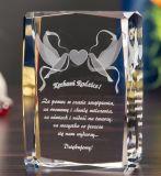 Unterschiedliche Form des Kristallglas-Würfels