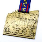 Medalha feita sob encomenda do campeonato da raça de bicicleta do esporte do metal da venda superior