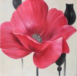 La Decoración de pared hechas a mano de pintura al óleo sobre lienzo de diseño de flores