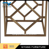 居間の家具の金ガラスコーヒーテーブル