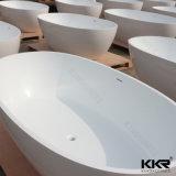 Superficie sólida de acrílico bañera independiente de piedra de 1800mm