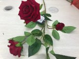 프랑스 낭만주의 다채로운 실크 꽃 인공적인 로즈 꽃다발