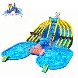 Park van het Water van het Land van de Prijs van de Fabriek van Lilytoys het Populaire Opblaasbare met Zwembad