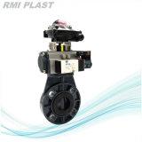Пневматический двухстворчатый клапан/пластик двухстворчатый клапан/PVC пневматический дроссельный клапан для промышленной воды (ANSI JIS DIN)