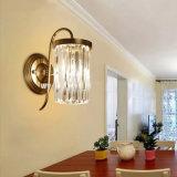 L'americano Archaize la lampada da parete a cristallo dell'oggetto d'antiquariato dell'indicatore luminoso della parete di colore del ferro
