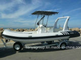 Liya 6.2m Luxus-Rippen-Boots-Fiberglas-aufblasbares Boots-Fischerboot
