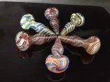 Rokende Pijp van het Glas van Handcraft de Spiraalvormige voor Tabak