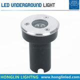 Luz subterrânea morna do diodo emissor de luz do branco DC24V 1W do poder superior mini