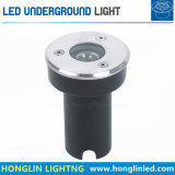 Branca quente de alta potência DC24V 1W LED Mini Luz Subterrâneo