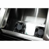 Temperatura único refrigerante R404 Gelato Exibir vitrina com 18 panelas