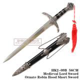 Punhal europeu do cavaleiro o punhal histórico 56cm HK2-09b do punhal da espada do oficial