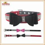 Colliers de crabot d'animal familier de qualité avec Bowtie (KC0131)