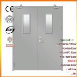 Portello Fuoco-Rated d'acciaio del doppio foglio con vetro libero
