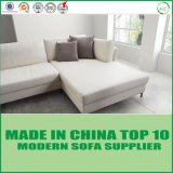 Sofa en cuir moderne véritable à la mode blanc pour la salle de séjour