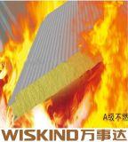 Pannello a sandwich a prova di fuoco verde delle lane di vetro del materiale da costruzione
