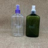 400ml vacian la botella plástica verde de la loción del animal doméstico para el maquillaje