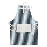 Design personalizado impresso cozinha cozinha algodão avental Bib com bolsos