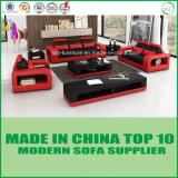 Insieme moderno del sofà del cuoio di svago del salone