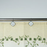 New Design Polyester Fabric Bathroom Curtain for Shower