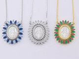 Bunte Goldshell-Halsketten-Frauen-Eingriffs-Schmucksachen des Zirconia-18K