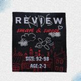 Satén de los accesorios de la ropa de los regalos tejido/escritura de la etiqueta del bordado/de la impresión