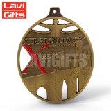 Fabricante de metal personalizada 3D Antique Silver Donuts Prêmio Medalha Rússia Sport