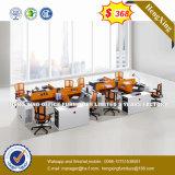 Prix bon marché MFC en bois couleur acajou Office Desk (HX-ONU007)