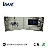 Брошюра LCD 5.0 дюймов видео- для подарка сувенира венчания