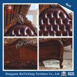 B268 Ruifuxiang weißes ledernes Luxuxbett mit König Size