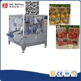 Nahrungsmittelverpackungsmaschine mit Premade Reißverschluss-Beutel