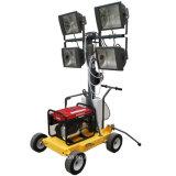 4X1000W petite lumière remorquable Tour avec générateur diesel ou essence
