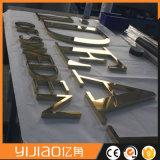 3Dミラーの磨かれたステンレス鋼の文字の印