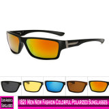 1821 homens novos óculos polarizados coloridos de moda