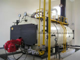 gas del paso de 2t Wns tres o caldera de vapor de fuel
