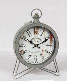 Orologio antico sveglio del metallo della Tabella con il buon prezzo