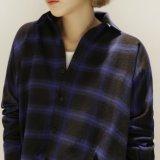 Рубашка шотландки кнопки женщин способа OEM вскользь с длинней втулкой