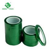 Hochtemperatur-Zoll X des Polyester-Puder-Beschichtung-selbsthaftendes Kreppband-Grün-2 72 Yd