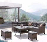 Mobília ao ar livre do Rattan da sala de estar moderna do hotel do escritório Home do lazer do pátio do jardim (J546-POL)