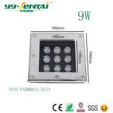 9W Outdoor LED luz de metro quadrado com marcação CE/RoHS