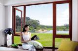 Woodwin Hot vender Casement Ventana de aluminio con cristal templado