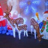 Van het LEIDENE van White&Brown het Licht Motief van het Rendier voor de Decoratie van Kerstmis