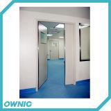 Puerta hermética del hospital del oscilación doble manual