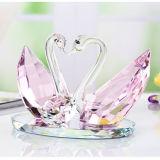 De nieuwe Zwaan van de Kus van het Kristal van het Ontwerp Transparante voor de Giften van de Herinneringen van het Huwelijk