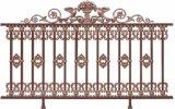 Rete fissa di alluminio di stile europeo esterno per l'ornamento del giardino della villa
