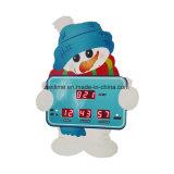 Reloj de alarma de la cuenta descendiente de Chrisrmas del muñeco de nieve del LED Digital/reloj del vector