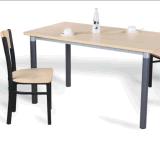 Aço Madeira mesa de jantar e cadeira