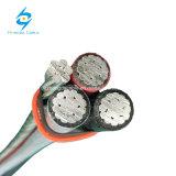 PVC de aluminio del conductor de 1kv Alu o cable aéreo aislado XLPE