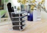 De witte Houder van de Borstel van de Make-up van de Prijs van de Fabriek van de Kleur Acryl