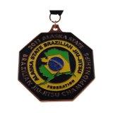 L'émail doux plaqué argent antique Souvenir Marathon Sport médaille de métal