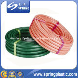 다중 비 색깔 냄새 가벼운 섬유 땋는 PVC 정원 물 호스 또는 관
